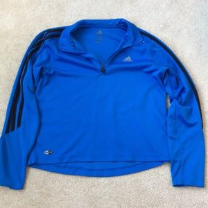 ADIDAS light athletic 3/4 pullover